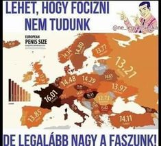 A totally worthless map of European penis sizes Good To Know, Haha, Jokes, Retro, Funny, Pictures, Fictional Characters, Worthless, Male Man