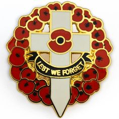 MINT CONDITION LEST WE FORGET WHITE CROSS RED POPPY WREATH LAPEL PIN BADGE | eBay Poppy Wreath, Remembrance Poppy, Armistice Day, Lest We Forget, White Crosses, Red Poppies, Pin Badges, Lapel Pins, Mint