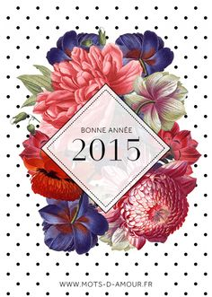 Carte de voeux 2015 Creation Art, Botanical Illustration, Hobbies And Crafts, Christmas And New Year, 4th Of July Wreath, Creations, Greeting Cards, Typography, Design Inspiration