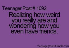 Do I actually have friends? Am I a human, or just a walrus?