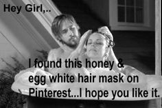 Hey girl ~ honey and egg mask