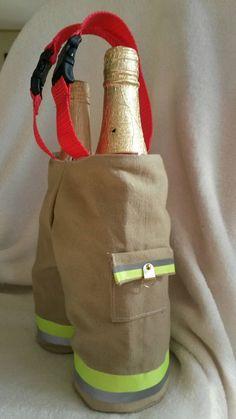 Firefighter wine/bottle holder by KJSpoo on Etsy
