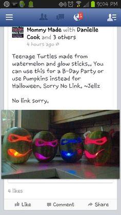 Ninja Turtles, must do this to decorate my bfs house for halloween
