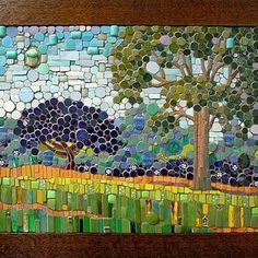 Michael Sweere - Last Day in August Mosaic Pots, Mosaic Garden, Mosaic Glass, Mosaic Tiles, Stained Glass, Paper Mosaic, Mosaic Crafts, Mosaic Projects, Mosaic Artwork