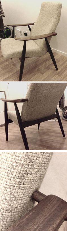 lepotuoli Marjatta (mallinumero 2461), jonka on suunnitellut Ilmari Lappalainen vuonna 1959. Nordic Design, Things To Buy, Scandinavian, Nostalgia, Furniture Design, Home, Museums, Corning Glass, Haus