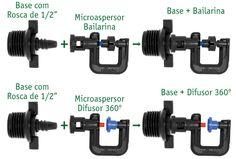 Tu propio Jard/ín 20 MicroAspersores 120/º microaspersors for Irrigation and hydroponics sytem