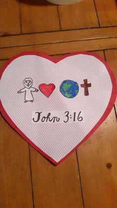 John Bible Valentine Craft by Let Sunday School Projects, Sunday School Activities, Valentine Activities, Church Activities, Sunday School Lessons, Valentine Craft, Valentines, Bible Story Crafts, Bible School Crafts