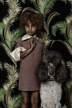 by Shelly Mosman, série Animal Child ~ Charlie & Henrietta, 2013 (compare Ruud van Empel, Holland)