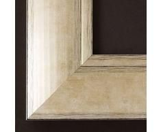 Espejo de pared - Espejo - Corona - Plata Oro 6,9 - Dimensiones exteriores del espejo 70 x 90 - Real - Madera
