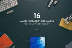 Check out 16 Hero/Header images [Updated] by Madebyvadim on Creative Market