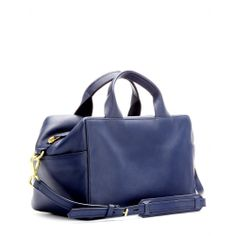 mytheresa.com - Track Satchel leather bowling bag - Luxury Fashion for Women / Designer clothing, shoes, bags