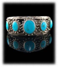 Vintage Navajo Blue Gem Turquoise 50's-60's