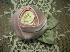 Pink Silk Rose Brooch by ConeldasCreations on Etsy, $14.95