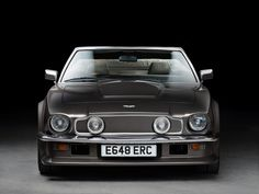 Aston Martin V8 Volante Vantage (1977) – The Aston Martin V8 Vantage was announced on 18th February 1977. Revised camshafts, air-box, larger inlet valves and carburettors, new inlet manifolds and different plugs, claimed to provide an increase in power of 40% and 10% more torque. The same ZF manual gearbox as in the V8 Saloon was standard equipment. This was enough to give a top speed of about 170 mph and acceleration from 0-60 mph in 5.2 secs. #britishCar #AstonMartin #ClassicCar
