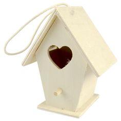 Eur 0,69 - knutsel vogelhuisje hout 11cm div.var