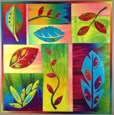 Libby's Leaves by Laura Wasilowski