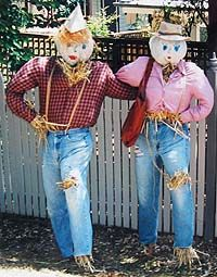Best mates scarecrow idea