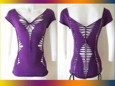 "Cut and Weave T-Shirts | ... / Womens Blank Purple Cut Shirt Tshirt "" Special Cut Shirt Series"