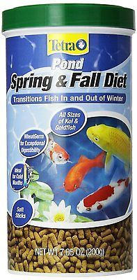 TetraPond 16467 Spring & Fall Diet, Floating Pond Sticks, oz, Wheat Germ Transitions Fish In and Out of Winter Exceptional digestability For colder months Fish Recipes, Dog Food Recipes, Snack Recipes, Fish Pond Supplies, All Fish, Spring And Fall, Smoothies, Lose Weight, Smoothie
