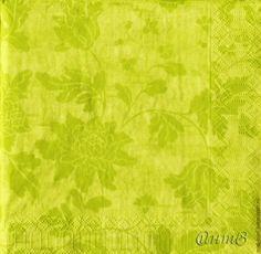 Купить салфетка для декупажа салатовое лето - салфетка декупаж, зеленый желто-зеленый, орнамент цветочный