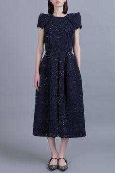 @Dice Kayek #AW16 sweetness is now in #PreO - www.PRECOUTURE.com - Navy Midi Dress
