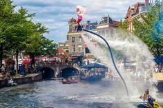 City center of Leiden in Holland Bo Krook