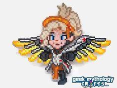 M.E.R.C.Y. - Heroes Never Die - Perler Bead Sprite Pixel Art Figure