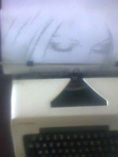 Para ver como termino el dibujo completo visiten mi blog ...http://dibujoshechosamaquinadeescribir.blogspot.mx/