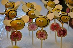 Cake pops for anytime. Bumble bee cake pops for a baby shower