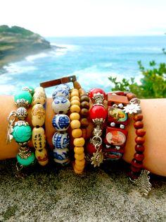boho bracelets. . .