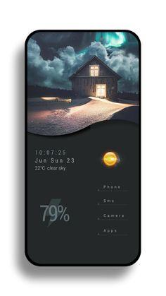Dark grey component with image mobile UI weather app looks like Minimal Web Design, Ui Ux Design, Interface Design, Application Ui Design, Visual Design, Mobile Ui Design, Dashboard Design, Flat Design, User Interface