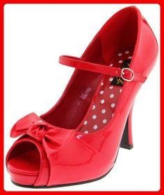 Pleaser Pinup Couture Cutiepie-02 Damen Pumps, Damen Pumps, Rot, 38 EU (5 UK) - Damen pumps (*Partner-Link)