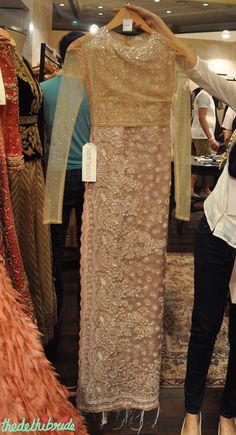 Tarun Tahiliani - Embroidered Net Saree with Swarovski Embellished blouse - Vogue Wedding Show 2015