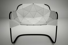 Jacobo Blandón, Medellin, Colombia: Cer Chair. Folded leather with steel frame.