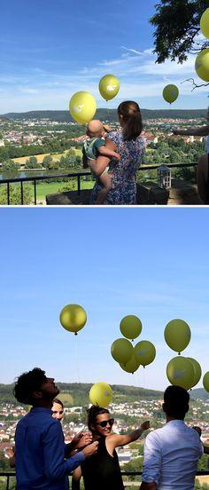 Luftballons zur Taufe, Herzlichst