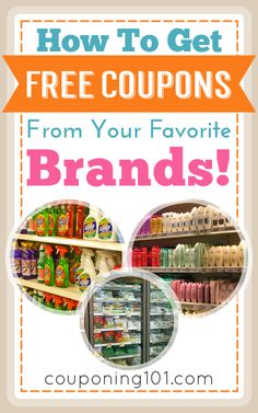 to Get FREE Coupons From Your Favorite Brands! How to get FREE coupons from your favorite brands just by emailing them!How to get FREE coupons from your favorite brands just by emailing them! How To Start Couponing, Couponing For Beginners, Couponing 101, Extreme Couponing, Grocery Coupons, Shopping Coupons, Shopping Hacks, Free Coupons By Mail, Get Free Stuff