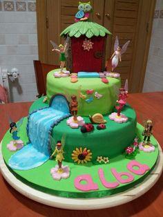 Tarta campanilla. Tinkerbell cake