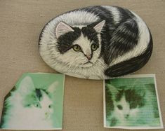 Your Cat Painted On a Rock or Stone