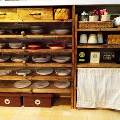 chinnさんの、棚,食器,DIY,セリア,のお部屋写真