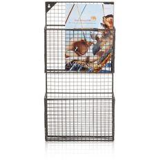 59,95€ Ca. H 61 x B 30 x T 10 cm. Zeitschriftenhalter, Metall Vorderansicht