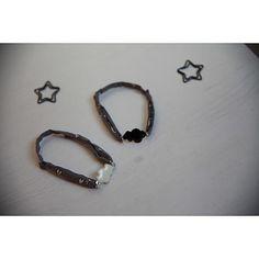 la fabrique des toiles bijoux bracelet breloque nuage blanc noir émail epoxy parure beauté cordon france duval stella papillon