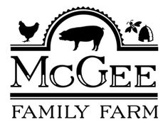 Logo for McGee Family Farm  www.alexmclark.com