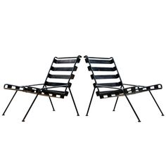 1stdibs.com | Unknown Craftsman One-Off Rod & Belt Steel Lounge Chairs