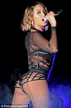Beyonce workout Grammy's 2014.  Lift the butt and cinch the waist: Ms Winhoffer reveals the secrets to Beyonce's body