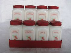 Dove Brand Quality Spice Jars and Metal Holding Rack