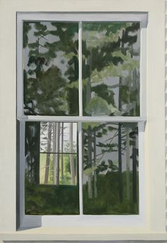 Lois Dodd ,View Through Elliot's Shack, Looking South, 1971 , Oil on linen , Alexandre Gallery.
