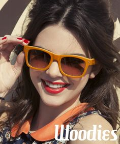The lovely Kendall Jenner in her Tangerine Woodies Bamboo Sunglasses!  $95