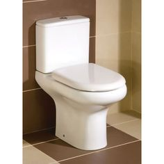 Compact Close Coupled Toilet & Seat | Bathroom City