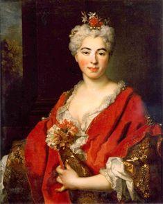 1726 Portrait of Marguerite de Largilliere, The Artist's Daughter by Nicolas de Largilliere (1656-1746)