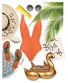 """""""Untitled #505"""" by cremebruleelatte ❤ liked on Polyvore featuring Haight, August Hat, Clinique, Sunnylife, Pearl Dragon, Billabong, Tory Burch and Dolce&Gabbana"""